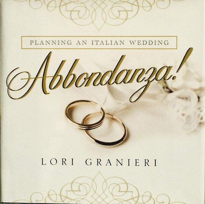 Book I wrote with tons of Italian Wedding ideas
