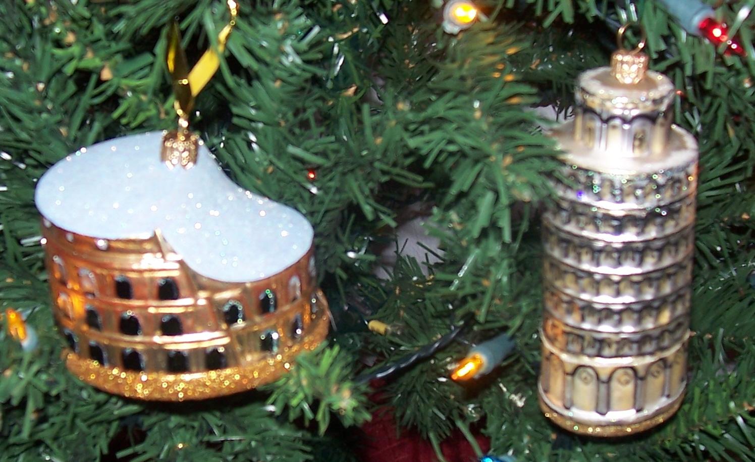 Italian ornaments -  Italian Landmark Ornaments